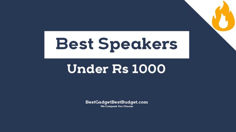 Top Best Bluetooth Speakers Under 1000 India