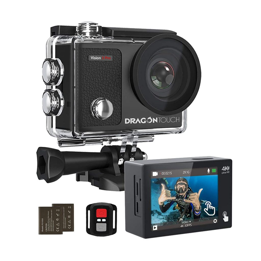 Dragon Touch 4K Action Camera 16MP Vision 3 Pro